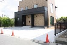 切り替えデザインの家