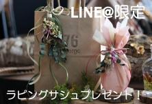 LINE@限定プレゼント