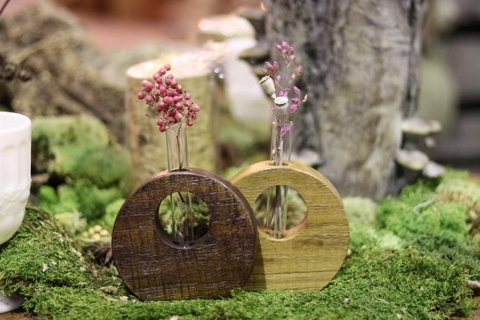 チーク花瓶